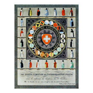 Middeleeuws Zwitsers Poster