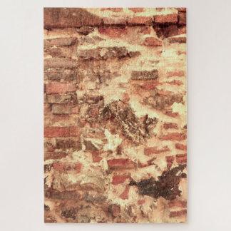 Middeleeuwse Bakstenen muur Legpuzzel