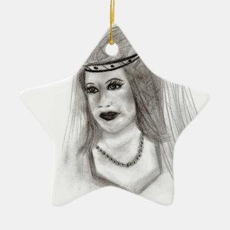 Middeleeuwse Bruid Keramisch Ster Ornament