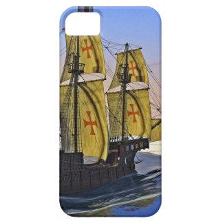 Middeleeuwse Carrack die het ruwe water verlaten Barely There iPhone 5 Hoesje