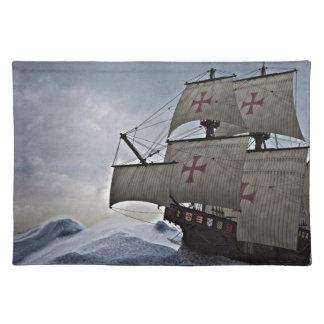 Middeleeuwse Carrack in het Storm Placemat
