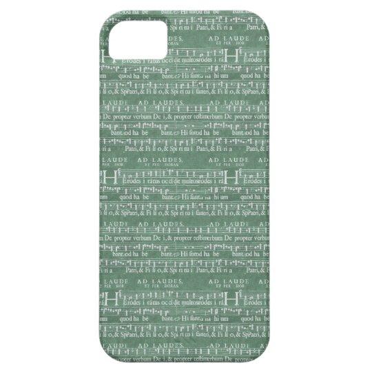 Middeleeuwse iPhone 5 van het Manuscript van de Mu Barely There iPhone 5 Hoesje
