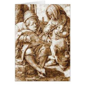 Middeleeuwse Musici 1524 Kaart