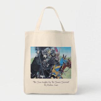 middeleeuwse ridders die op paarden historisch draagtas