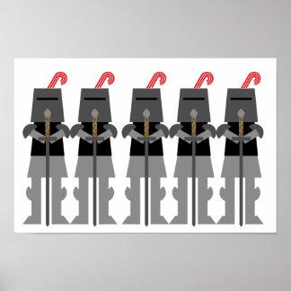 Middeleeuwse Ridders Poster
