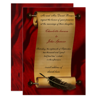 middeleeuwse rol vintage uitnodiging