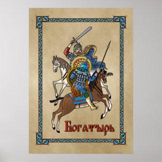 Middeleeuwse Russische Bogatyr Poster