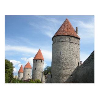 Middeleeuwse Torentjes of Torens in Tallinn, Briefkaart