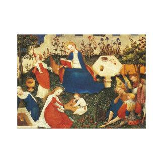 Middeleeuwse tuin van Eden Canvas Print