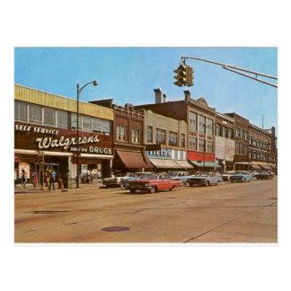 Midden van de eeuw Gary BINNEN - zesde & Broadway Briefkaart