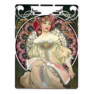 Mijmerij 1897 van Alfons Mucha Briefkaart