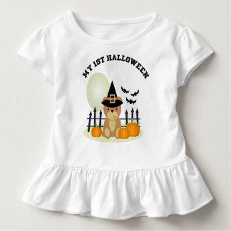 Mijn 1st Halloween draagt bot van de Pompoen maand Kinder Shirts