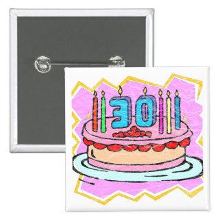 Mijn 30ste Giften van de Verjaardag Vierkante Button 5,1 Cm