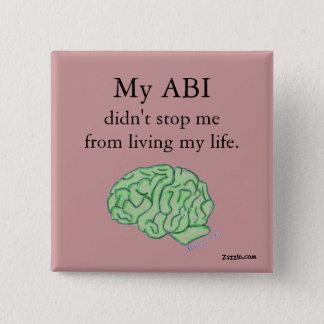 """""""Mijn ABI hield me tegen"""" niet knoop Vierkante Button 5,1 Cm"""