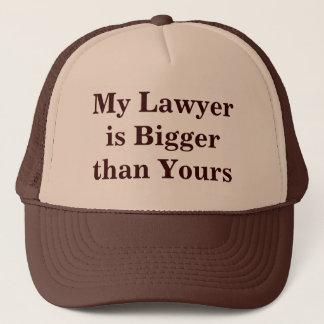 Mijn Advocaat is Groter dan van u Trucker Pet