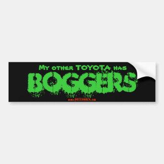 Mijn ander TOYOTA heeft, BOGGERS, www.FATTSHACK.co Bumpersticker