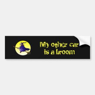 Mijn andere auto is een bezem bumpersticker