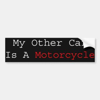 Mijn Andere Auto is een Motorfiets Bumpersticker