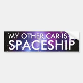 Mijn Andere Auto is een Ruimteschip Bumpersticker