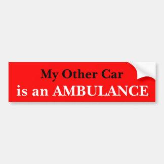 Mijn Andere Auto is een Ziekenwagen Bumpersticker
