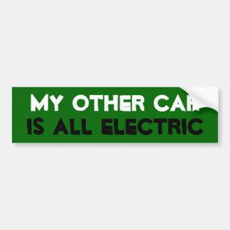 Mijn Andere Auto is Elektrisch allen Bumpersticker