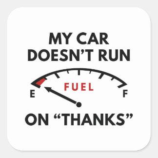 Mijn Auto Vierkante Sticker