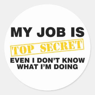 Mijn Baan is Hoogste - geheim Ronde Sticker