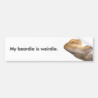 Mijn beardie is weirdie. bumpersticker