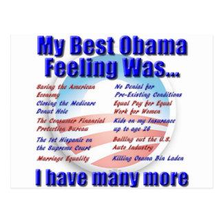 Mijn Beste Gevoel Obama was… Briefkaart
