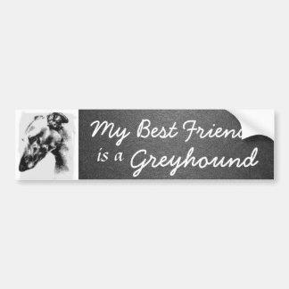 Mijn Beste Vriend is een Windhond Bumpersticker
