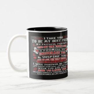 Mijn Beste Vriend Tweekleurige Koffiemok