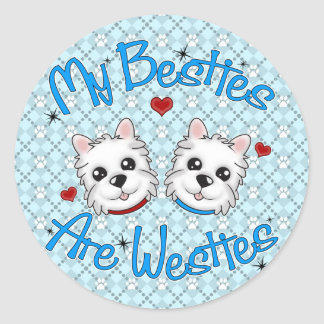 """Mijn Besties is"" de Stickers van JONGENS Westies"