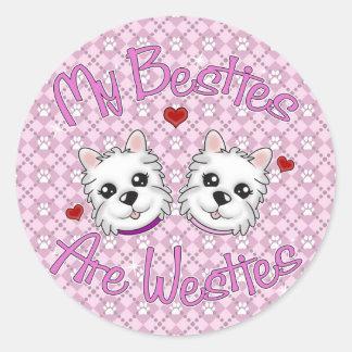 """""""Mijn Besties is"""" de Stickers van MEISJES Westies"""