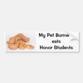 Mijn Birmaan van het Huisdier eet de Sticker van d Bumpersticker