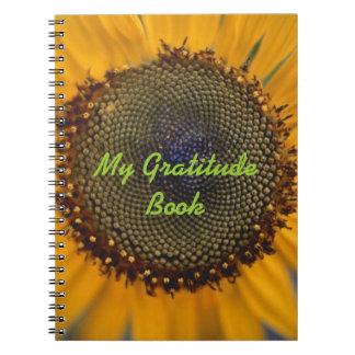 Mijn Boek van de Dankbaarheid met Zonnebloem Notitieboek