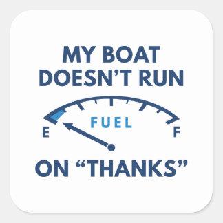 Mijn Boot Vierkante Sticker