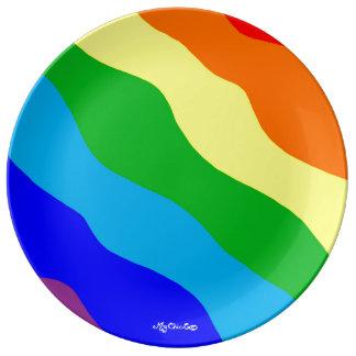 Mijn BORD van de Regenboog Porseleinen Bord