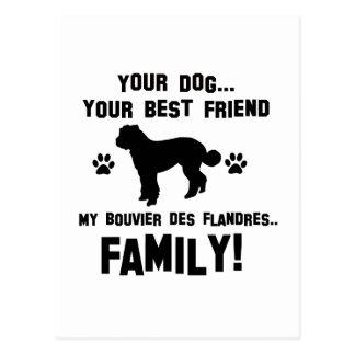 Mijn Bouvier des Flandres familie, uw hond is Briefkaart