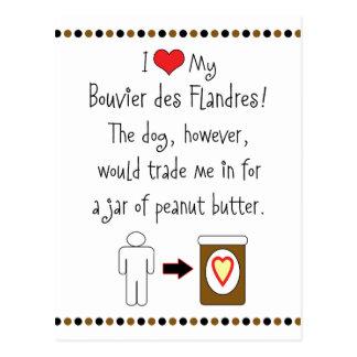 Mijn Bouvier des Flandres Loves Pindakaas Briefkaart