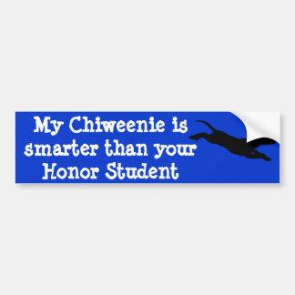Mijn Chiweenie is slimmer dan uw Eer St… Bumpersticker
