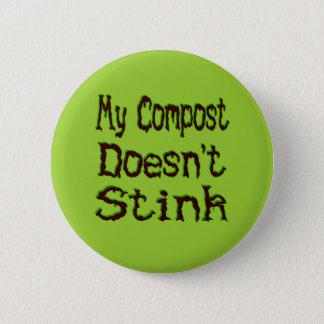 Mijn Compost stinkt geen Grappige Tuinman Ronde Button 5,7 Cm