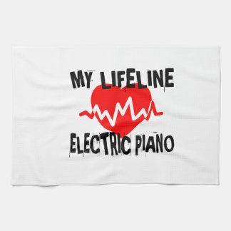MIJN DESIGN VAN DE MUZIEK VAN DE PIANO VAN DE LIJN THEEDOEK