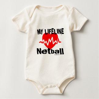 Mijn Design van de Sporten van het Netball van de Baby Shirt