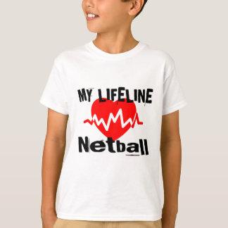 Mijn Design van de Sporten van het Netball van de T Shirt