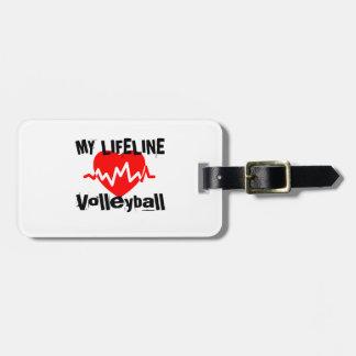 Mijn Design van de Sporten van het Volleyball van Kofferlabels