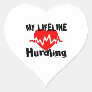 Mijn Design van de Sporten van Hurdling van de Hart Sticker