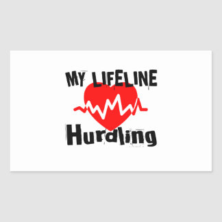 Mijn Design van de Sporten van Hurdling van de Rechthoekige Sticker