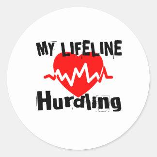 Mijn Design van de Sporten van Hurdling van de Ronde Sticker