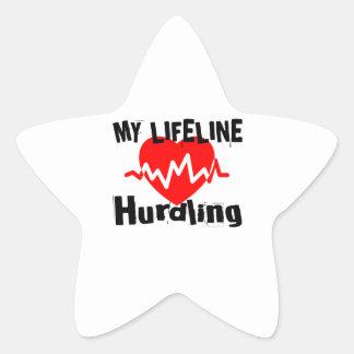 Mijn Design van de Sporten van Hurdling van de Ster Sticker