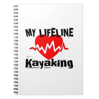 Mijn Design van de Sporten van Kayaking van de Ringband Notitieboek